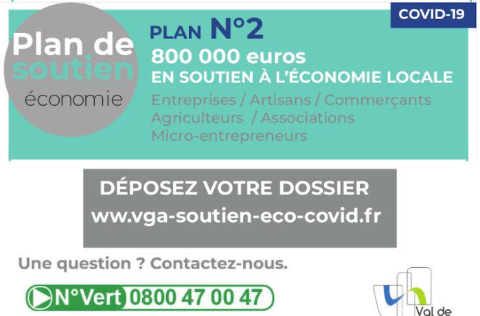 Flyer - Plan de soutien éco COVID 2 - Val de Garonne Agglomération - Valable jusque 31122020